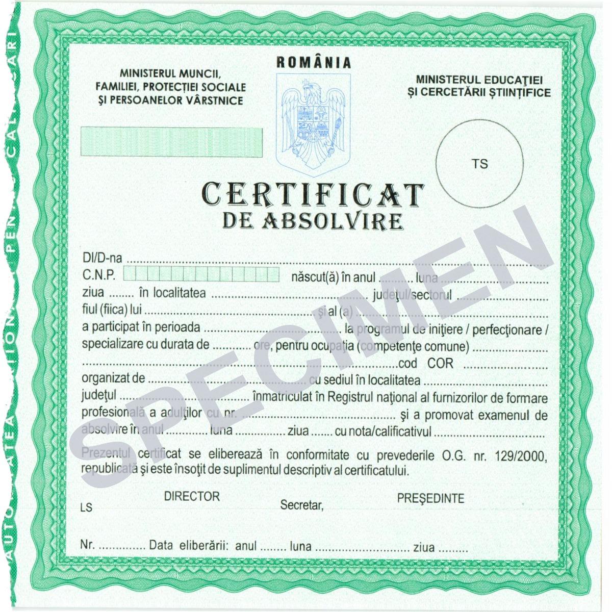 Certificat Eurocor ANC